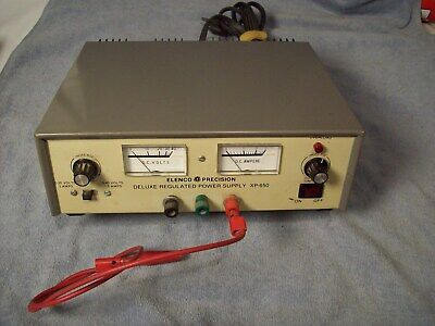 ELENCO PRECISION DELUXE REGULATED POWER SUPPLY MODEL XP-650 0-20 volts0-4 volts