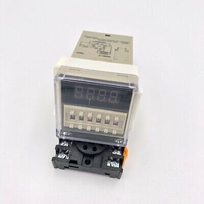 DH48S-S Programmable Double Time Delay Relay 0.1S-99H RepeatCycle Socket 12-380V