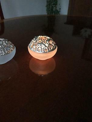 Christofle Pair of Vintage Rare Silver Candle Holders/Votives