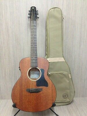 "Caraya 37"" All Mahogany Traveler Acoustic Guitar,EQ+Free Padded Bag P304111EQ"