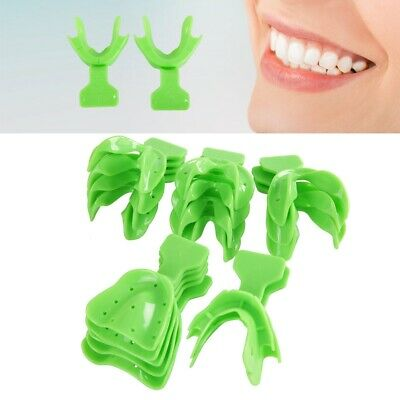18Pcs Autoclavable Dental Impression Trays Denture Edentulous Jaw Tray Teeth Kit