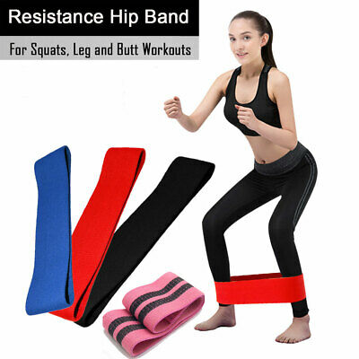 Elastic Resistance Band Loop Exercise Glutes Legs Yoga Pilates Home Gym Workout
