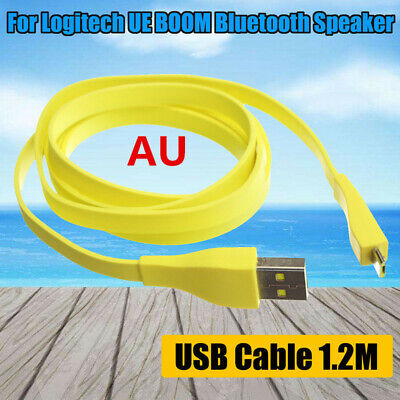 AU 1.2M Micro USB PC Charger Data Cable For Logitech UE BOOM MEGA Bluetooth NEW