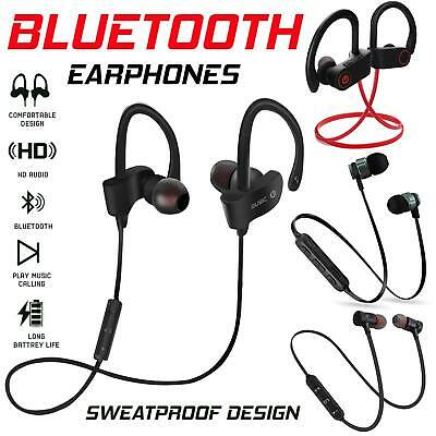 Wireless Bluetooth Earphones Headphones Sport Earbuds for iPhone Samsung Android