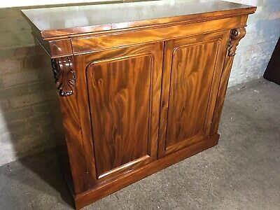 Antique Victorian Flamed Mahogany Sideboard  . Delivery Available