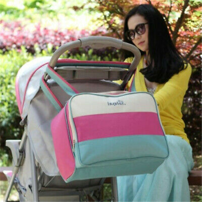 Large Capacity Multifunctional Canvas Mummy Bags Casual Baby Diaper Bags CB