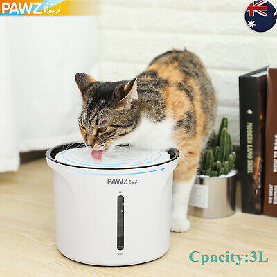 3L Pet Dog Cat Water Dispenser Bowl Fountain Drink Electric Automatic Pup Feeder