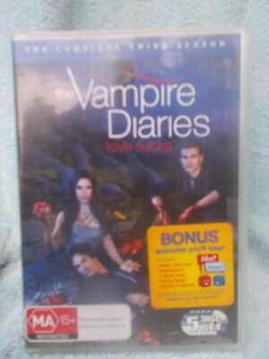 The Vampire Diaries Complete Third Season  5 Disc Boxset  Dvd Ma R4