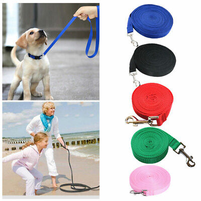 Pet Dog Puppy Training Lead 50ft 15M Long Line Leash Recall Collar Harness Rope