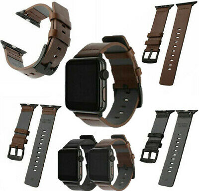 New Genuine Leather Watch Band Wrist Strap Fr Apple Watch 1 2 3 4 38/42/40/44mm