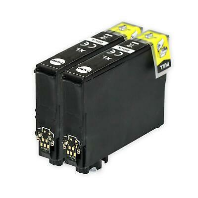 2 Black XL Ink Cartridges for Epson Expression Home XP-5100 & XP-5105