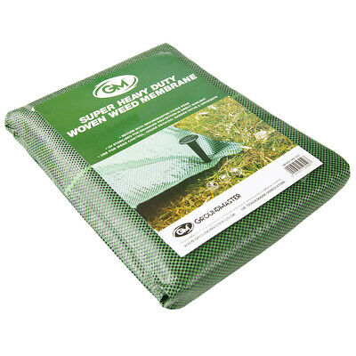 GroundMaster 125gsm Green Super Heavy Duty Weed Control Fabric Cover Membrane