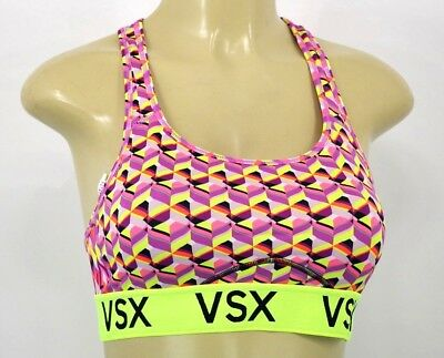 154ad14225 NWT Victoria s Secret VSX The Player Racerback Sport Bra Large AA100C