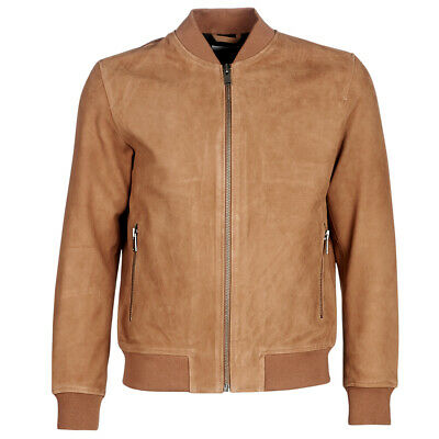 Selected  Giacca in pelle uomo   SLHB02  Marrone  13929078