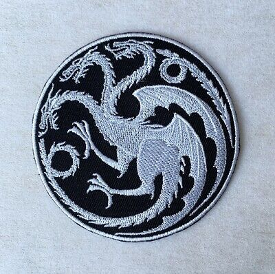 House Targaryen Dragons Sigil Patches Game of Thrones Embroidered Iron On Patch