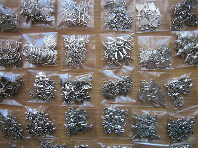 Joblot -100 Mixed Tibetan Silver Charms  + 10 FREE Owl Charms -Clearance