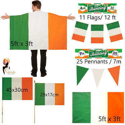 St. Patrick's Day Republic of Ireland Irish flag Bunting Cape Party Celebration