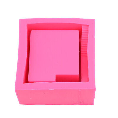3D Square Concrete Flower Pot Mould Handmade Cement Craft Planter Silicone Mold