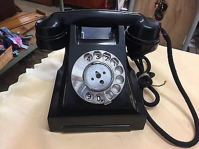 Vintage Bakelite Black ROTARY DIAL TELEPHONE 332 AT