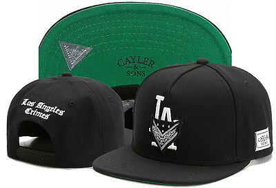New Black Men Cayler Sons Cap Hip Hop Baseball Snapback Adjustable Bboy Hat  307  c9d4cfc36c16