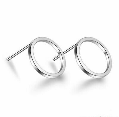 Womens Circle Earrings Sterling Silver Plated Round Stud Studs Drop Jewellery UK