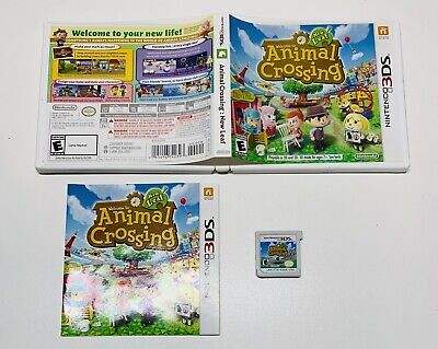 Animal Crossing: New Leaf (Nintendo 3DS, 2013) BLACK LABEL! FAST SHIPPING!
