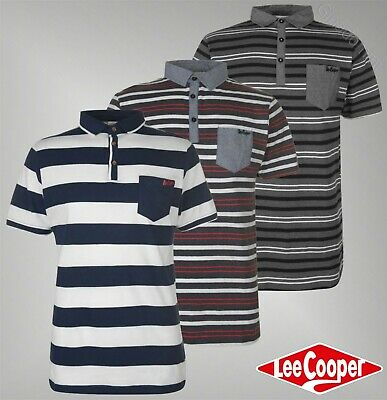 Mens Branded Lee Cooper Stylish Cotton Top Short Sleeve Denim Shirt Size S-XXL