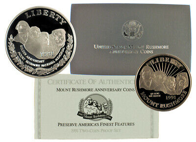 1991 Mount Rushmore Commemorative Set (Proof, 2 Coin)