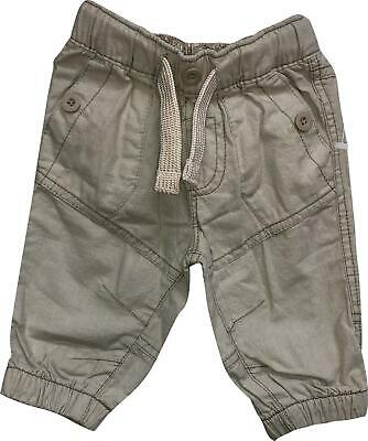 PRE-OWNED Baby Girls Next Beige Stone Cuffed Leg Trousers Age 3-6 Months