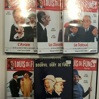 Lot De 6  Dvd Louis De Funes  Bourvil Etc... Neuf Sous Blister