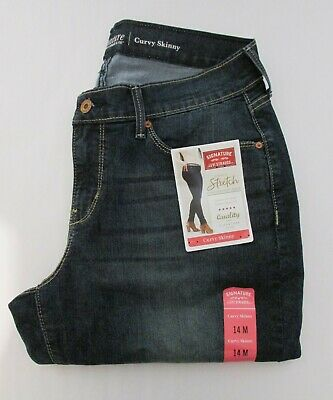 a5f0fb8c Signature by Levi Strauss & Co. Women's Curvy Skinny Jeans - Size 14M