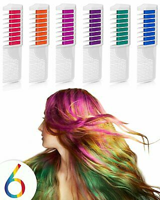 Temporary Hair Color Hair Dye Hair Chalk Comb with Bright Colors - Popular and..