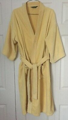 3960d98c6b4a1 Vintage Mens HILL   ARCHER Robe Yellow 100% Cotton Terry Cloth Heavy Weight  USA