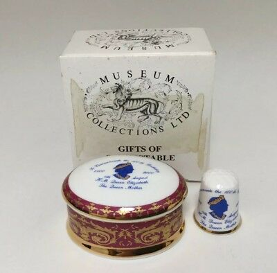 The Museum Collection Lidded Pot To Celebrate The Queen Mothers 100th Birthday
