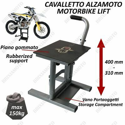 Cavalletto Alzamoto Solleva Moto One Grigio Universale Cross / Motard / Enduro