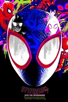 Spider-Man Into the Spider-Verse Print by Anthony Petrie #/200 Grey Matter Art