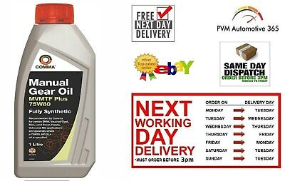 1LT TRANSMISSION GEAR Fully Synthetic Oil 75W80 BMW Vauxhall Mini Honda  Volvo MG