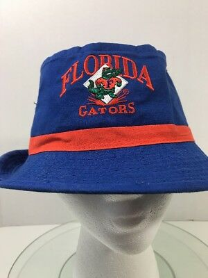 d1cc348713a Florida Gators Bucket Hat Size Medium Signatures University UF Blue Orange