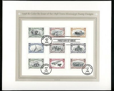 US FDC #3209+3210 None 1998 CA Trans-Mississippi Centennial Re-Issue Set of 2