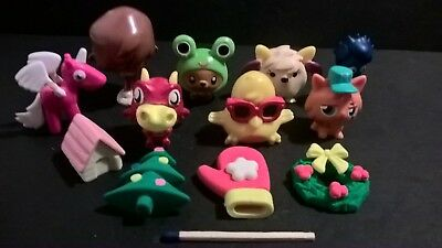 Mixed lot Pokemon game resin plastic mini Japan toy figurines + extra pieces
