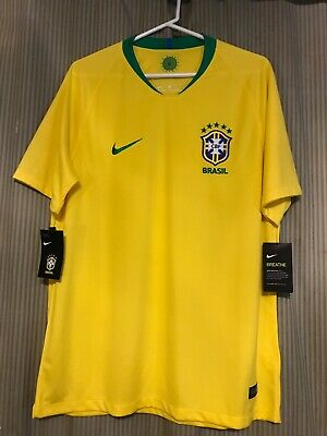 879c60b34 Brazil Nike Authentic Large Brasil yellow world cup 2018 Men s Jersey Dri  Fit