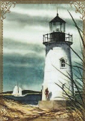 Modern-Wide-Linen-Lighthouses-P2-Lighthouse In Ocean-Swap Playing Card