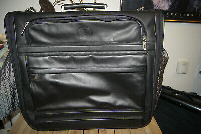 Clava Leather Bag ROLLING LEATHER SUITCASE CLAVA TRAVEL BAG