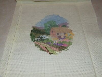 Completed Cross Stitch -  House and Garden