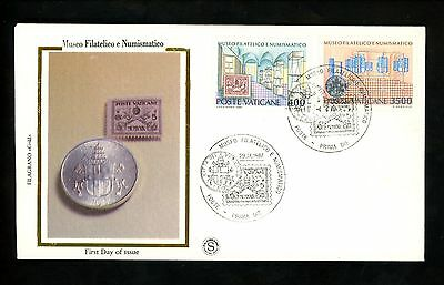 Postal History Vatican City FDC #793-94 1987  Philatelic and Numismatic Museum