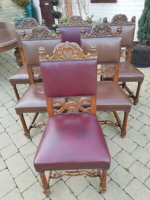 6 Victorian S. J. Waring And Sons Carved Walnut Chairs. Fabulous top quality.