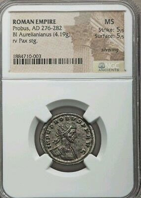 Roman Empire Probus NGC MS 5/5 Ancient Silver Coin