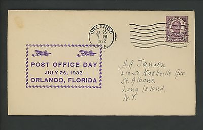 US POSTAL HISTORY Post Office - National Day 1932 Peoria IL