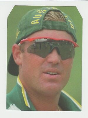 Cricket : Australia : Shane Warne : large unusually shaped UK sports card
