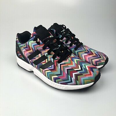 reputable site d5f47 78b4c RARE ADIDAS ZX Flux Multi Colors Chevron Rainbow Boost B25394 - Size 11